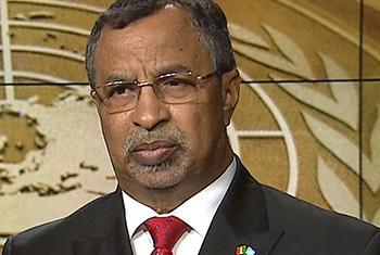 Mahamat Saleh Annadif, Représentant spécial du Secrétaire géneral au Mali et chef de la MINUSMA. Capture d'écran - ONU
