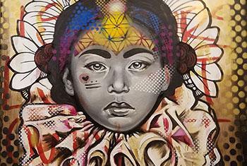 Rani, 15 ans – Esclave dans un cirque au Népal – Artiste: Kinmx, Mexique –