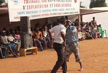 Journée de sensibilisation de masse sur la prévention de l'exploitation et de l'abus sexuels. 5eme Ardt. Bangui, le 30 août 2017. (