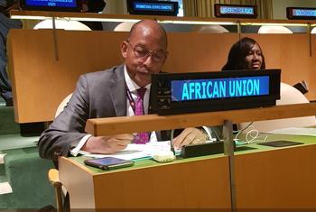 Le Dr Ibrahim Mayaki à l'Assemblée générale des Nations Unies (