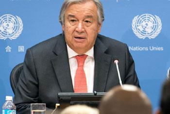 Le Secrétaire général de l'ONU, António Guterres (Archives) Photo ONU/Mark Garten