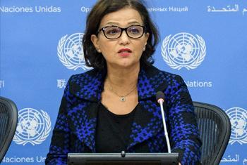 Najat Rochdi, Coordinatrice humanitaire et Représentant spéciale adjointe de la Mission des Nations Unies dans le pays (MINUSCA).(Photo : ONU/Manuel Elias)