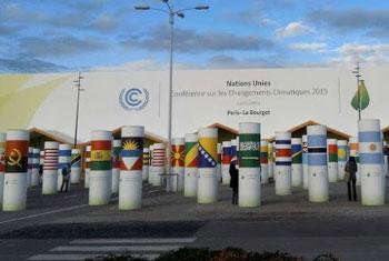 Entrée des salles de conférences où se déroulèrent les discussions de la COP21 à Paris. Radio Okapi/Ph. Nounou Ngoie.