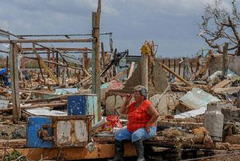 Punta Alegre, sur la côte nord de Ciego de Avila, à Cuba, après le passage de l'ouragan Irma qui a dévasté les Caraïbes.