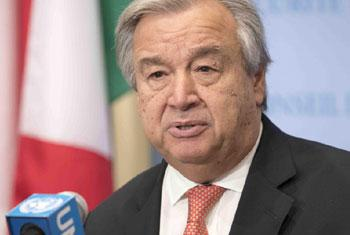 Le Secrétaire général de l'ONU, António Guterres (archives).