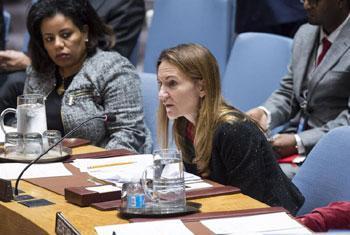 Anne Gueguen, Représentante permanente adjointe de la France, Conseil de sécurité sur la Bosnie-Herzégovine, mardi 7 novembre 2017 (Crédit