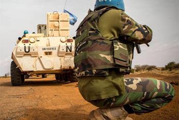 Des Casques bleus au Mali. (