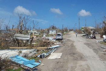 Dégâts causés par l'ouragan Irma à Antigua et Barbuda en septembre 2017. Photo UNDAC/Silva Lauffer