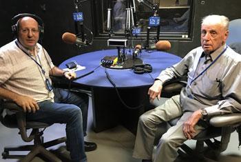 Robert Kaminker (à droite), lors de son passage dans les studios d'ONU Info à New York (Crédit photo : ONU Info)