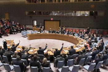 Le Conseil de sécurité s'est réuni le mardi 19 décembre 2017 pour adopter une resolution sur l'aide humanitaire transfrontalière en Syrie (Crédit photo : ONU/Mark Garten)