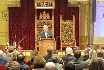 Le Secrétaire générale de l'ONU António Guterres lors de la clôture du Tribunal pénal pour l'ex-Yougoslavie. (