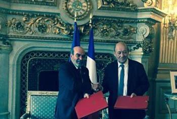 M. José Graziano da Silva, Directeur général de la FAO, et M. Jean-Yves Le Drian, Ministre français de l'Europe et des affaires étrangères.- Photo : FAO