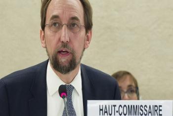 Zeid Ra'ad Al Hussein, Haut-Commissaire de l'ONU aux droits de l'homme lors d'une session du Conseil des droits de l'homme à Genève (Photo d'archives: ONU/J. M. Ferré)