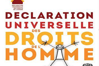 Déclaration universelle des droits de l'homme créee par Yak et Elyx