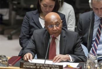 Tayé-Brook Zerihoun, Sous-Secrétaire général des Nations Unies aux affaires politiques, devant le Conseil de sécurité le 5 janvier 2018. (