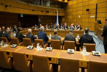 Au premier jour des pourparlers de paix sur la Syrie à Vienne, le Médiateur de l'ONU, Staffan de Mistura a d'abord rencontré la délégation gouvernementale.