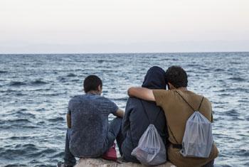Des migrants sur l'île grecque de Lesbos (archives).
