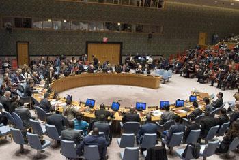 Le Conseil de sécurité entend l'exposé de Nickolay Mladenov, l'Envoyé special pour le processus de paix au Moyen-Orient (Crédit photo : Eskinder Debebe)