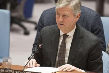 Jean-Pierre Lacroix, Secrétaire général adjoint des Nations Unies aux opérations de maintien de la paix, intervenant durant la réunion du Conseil de sécurité sur le Mali