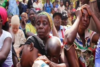 Familles camerounaises réfugiées à Utanga, Obanliku, au Nigéria, après avoir fui l'insécurité dans les régions anglophones du Cameroun.