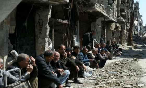 Refugiados palestinos. Foto: Unwra