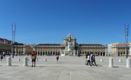 Praça do Comércio em Lisboa, Portugal. Foto: Rádio ONU/Leda Letra
