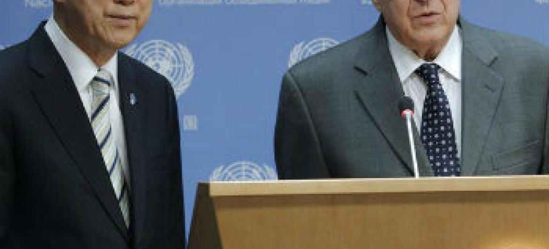 Lakhdar Brahimi deixa cargo no fim do mês. Foto: ONU/JC McIlwaine