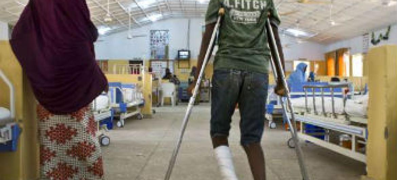 Menino nigeriano atingido em ataque a escola. Foto: Acnur/H.Caux