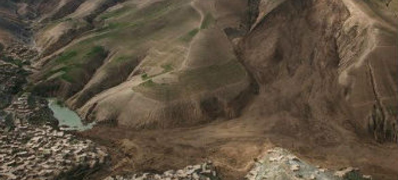 Deslizamento de terra no Afeganistão. Foto: Unama/Fardin Waezi