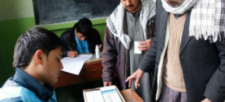 Eleições no Afeganistão. Foto: Unama