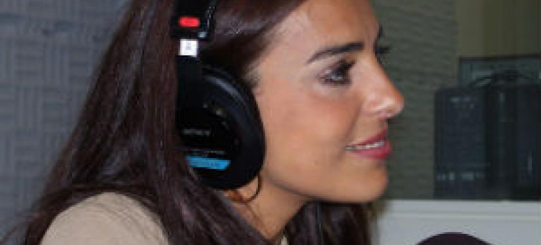 Catarina Furtado em entrevista à Radio ONU. Foto: Rádio ONU