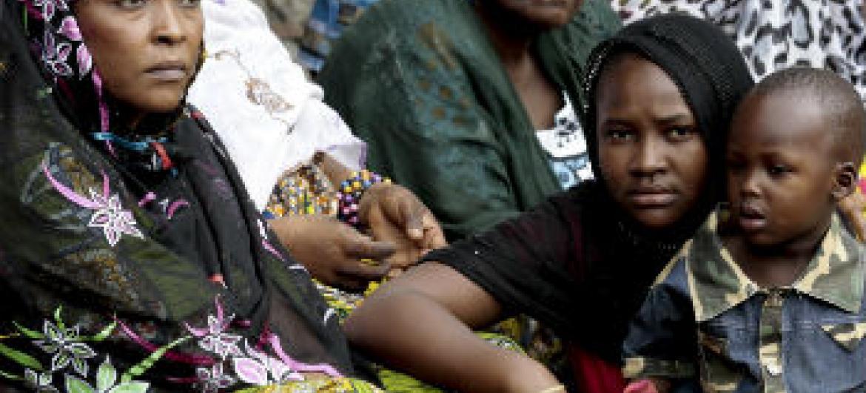 Deslocados internos em Bangui. Foto: ONU/Evan Schneider