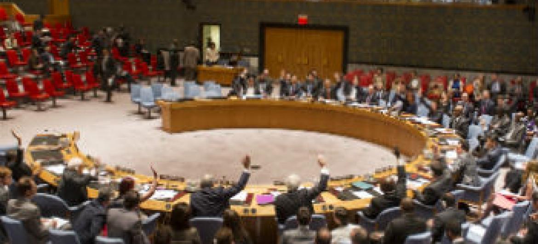 Votação no Conselho de Segurança nesta quinta-feira. Foto: ONU/Mark Garten