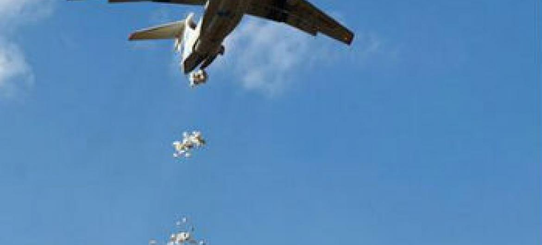 FAO e PMA fazem a primeira operação aérea para a entrega de sementes no Sudão do Sul. Foto: FAO