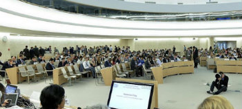 Conselho de Direitos Humanos da ONU. Foto: ONU/Jean-Marc Ferré
