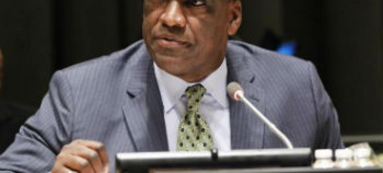 Presidente da Assembleia Geral, John Ashe. Foto: ONU/Paulo Filgueiras