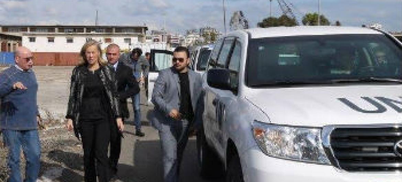 Coordenadora especial Sigrid Kaag na Síria. Foto: ONU-Opaq
