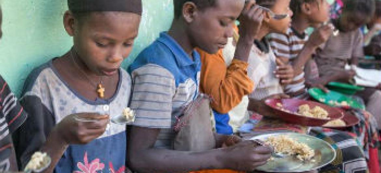 Agência da ONU entrega alimentos à população. Foto: PMA