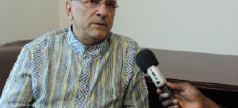 José Ramos Horta em entrevista à Rádio ONU. Foto: Rádio ONU