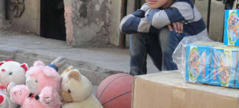 Criança em Yarmouk. Foto: Unrwa/Rami Al-Sayyed