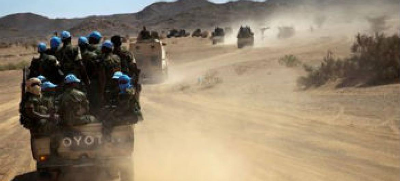 Capacetes azuis no Mali. Foto: Minusma
