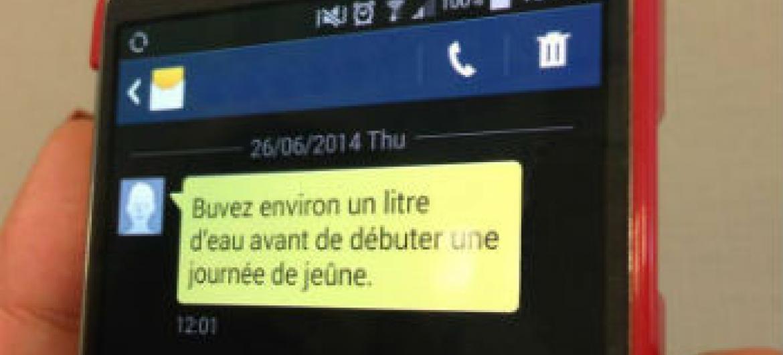 Informações sobre diabetes através de mensagens de texto. Foto: OMS