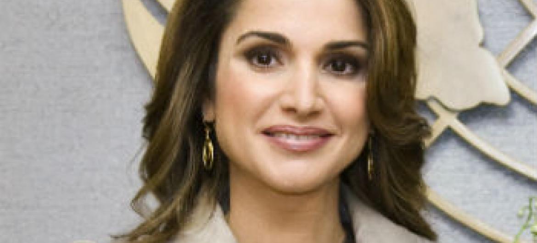 Rainha Rania. Foto: ONU/Mark Garten