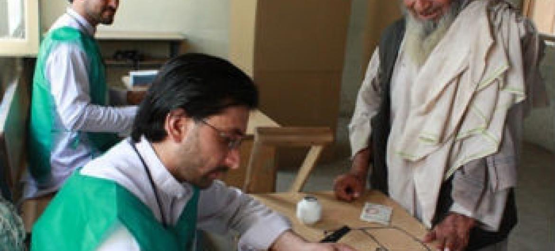 Eleições no Afeganistão. Foto: Unama/Shamsudding Hamedi