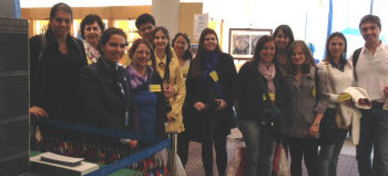 Grupo de turistas com a guia Márcia Soares Pinto
