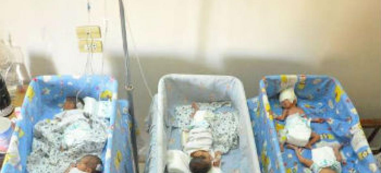 Bebês em hospital na Síria. Foto: Acnur