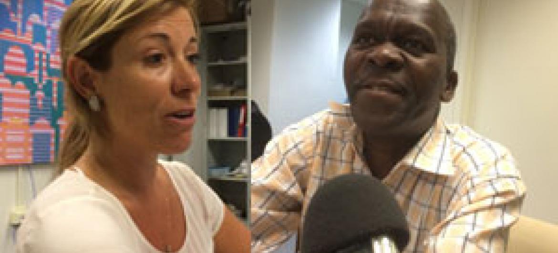 Valeria de Campos Mello e Ernestino Ngomane. Foto: Rádio ONU