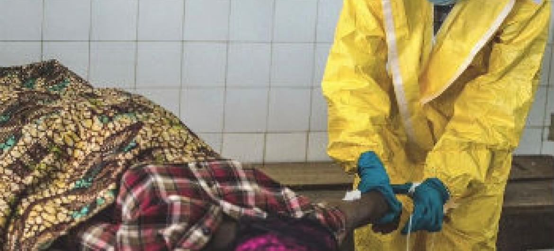 Plano de resposta ao vírus Ébola. Foto: Irin/Tommy Trenchard