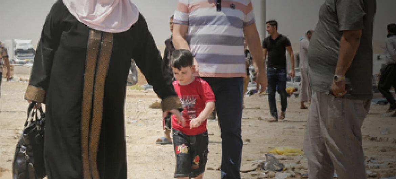 Iraquianos deslocados. Foto: Ocha