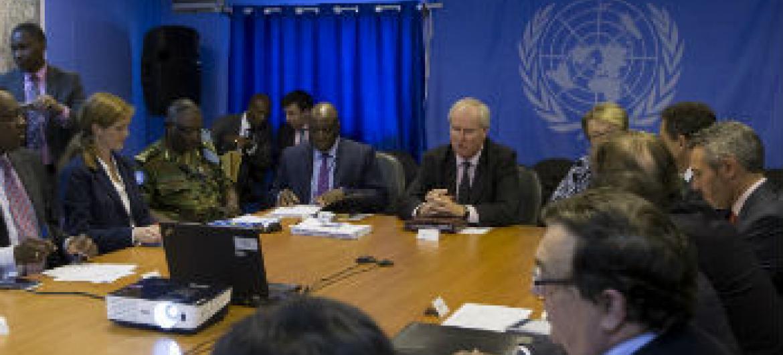 Delegação reunida no Sudão do Sul. Foto: ONU/JC McIlwaine